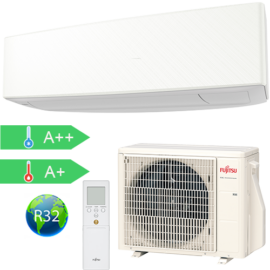 FUJITSU ASYG07KETA/AOYG07KETA (kültéri + beltéri egység) Oldalfali split klíma(Fehér) 2.0 kW Hősz. Inver. R32