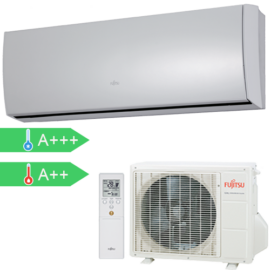 FUJITSU ASYG09LTCA/AOYG09LTC (kültéri + beltéri egység) oldalfali split klíma 2,5 kW Hősziv, Inver, R410A