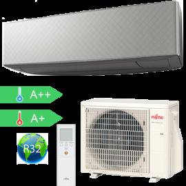 FUJITSU ASYG09KETA-B/AOYG09KETA (kültéri + beltéri egység) Oldalfali split klíma (Szürke) 2.5 kW Hősz. Inver. R32