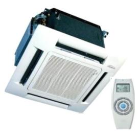 GALLETTI  IWC042T 01 (600x600mm - infra szabályzóval) Fan-coil+ kazetta (panel)+infra szab, kazettás, 2 csöves, 4 vent.fokozat 4,6 kW, 230-1-50