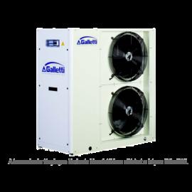 GALLETTI MPE 009 C0 (01S0C00000001) pump, tank, cond.contr. folyadékhűtő (hidroblokkal, vent. ford. szab.) 9,2 kW, R410A, 3 fázis