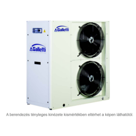 GALLETTI MPE 023 C0 (01S0C00000001) pump, tank, cond.contr. folyadékhűtő (hidroblokkal, vent. ford. szab.) 22,5 kW,R 410A, 3 fázis