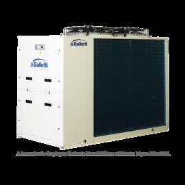 GALLETTI MPE T69 C0 (01S0C00000001) pump, tank, cond.contr. folyadékhűtő (hidroblokkal, vent. ford. szab.) 69,8 kW, R410A, 3 fázis