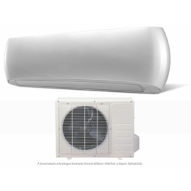 HD  HDWI-DSGN-90C-WHITE/HDOI-DSGN-90C (beltéri +kültéri egység) Oldalfali split klíma (DESIGN-WHITE) 2,5 kW, Hősziv,Inverteres, R410A