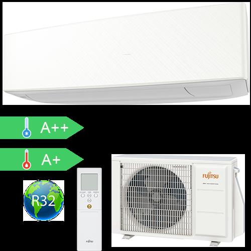 FUJITSU ASYG14KETA/AOYG14KETA (kültéri + beltéri egység) Oldalfali split klíma (Fehér)4,2 kW Hősz. Inver. R32