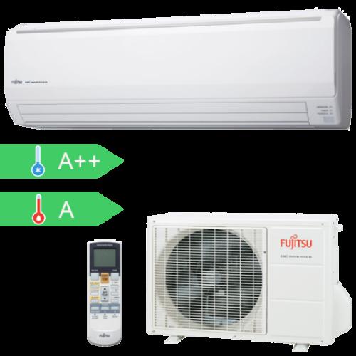 FUJITSU ASYG18LFCA/AOYG18LFC (kültéri + beltéri egység) Oldalfali split klíma 5,2 kW, Hősziv.Inverter,R410A