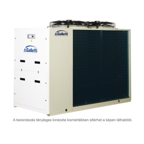 GALLETTI MPE T61 C0 (01S0C00000001) pump, tank, cond.contr folyadékhűtő (hidroblokkal, vent. ford. szab.) 61,9 kW, R410A, 3 fázis