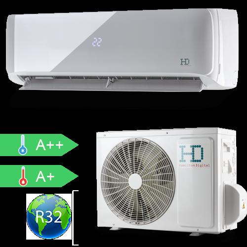 HD  HDWI-MAXIMUS-126D / HDOI-MAXIMUS-126D (beltéri +kültéri egység) Oldalfali split klíma (MAXIMUS) 3,4 kW, Hősziv,Inverteres, R32